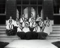 Nasson students, Springvale, ca. 1915