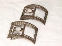 Samuel Freeman shoe buckles, ca. 1790