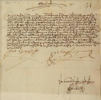 Ferdinand and Isabella letter, 1492