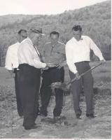 Ground-breaking ceremony, Evergreen Valley, ca. 1960