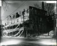 Coburn Hotel after fire, Skowhegan, 1918