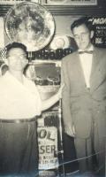 Dave Glovsky, Edmund Muskie, Old Orchard Beach, ca. 1960s