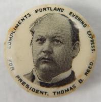 Thomas Brackett Reed campaign button, 1896