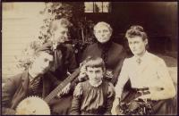Mary Tarbox Walker with daughters, Fryeburg, ca. 1890