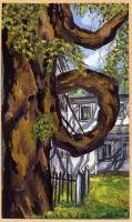 Doughnut Tree Painting, Fryeburg, ca. 1984