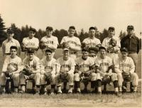 Baseball players, Fryeburg, ca. 1950