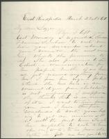 Peter Sanborn letter to daughter Lizzie, 1860