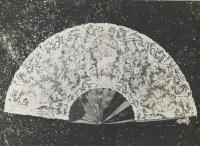 Lace fan belonging to opera singer Lillian Nordica