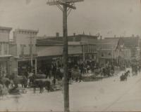 Main and State Streets, Presque Isle, 1910