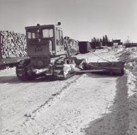 Clearing a Bangor and Aroostook Railroad Yard, c. 1970