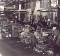 Turret Lathe Bay, Bangor and Aroostook Railroad, Derby, c. 1960