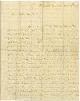 Letter from Martha Washington to Mrs. Warren, 1789