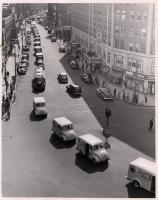Dairy trucks on parade in Portland, 1949