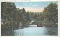 Sliding Bridge, Songo River, ca. 1925