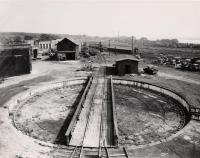 Grand Trunk Railroad at Presumpscot Street yards, Portland, 1956