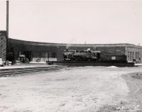 Grand Trunk Railroad turntable, Portland, 1956