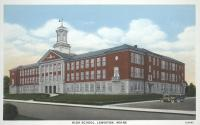 Lewiston High School, ca. 1935