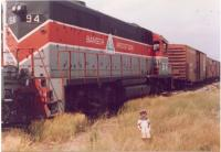 Bangor and Aroostook GP-38, Presque Isle, 1991