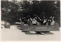 Dearborn's Sleighmobile, New Hampshire, ca. 1947