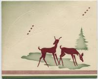 Whitney Christmas card, ca. 1925