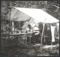 Preparing a meal, Lobster Lake, 1909