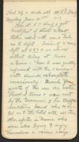 Honeymoon camping diary, 1909