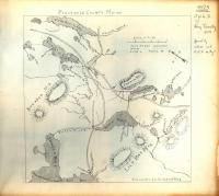 Map of Ragged Lake and Roach Pond, ca. 1893