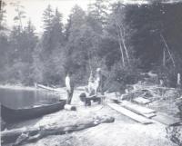 Boat building, Bear Pond, 1894