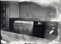 Teacher's desk, Fryeburg Academy, ca. 1906