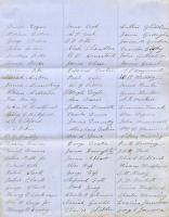 Militia List, Houlton, 1856