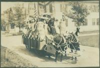 Goodall Matting Co. float, Kennebunk, 1907