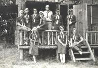 Voice class, Eastern Music Camp, Sidney, 1931