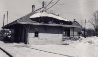 Bangor and Aroostook Railroad station, Milo, 1960