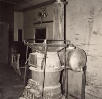 Bangor and Aroostook Outfit Car Stove, c. 1950