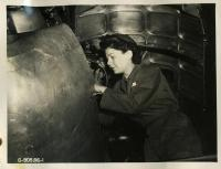 WAC mechanic, Dow Field, Bangor, ca. 1944