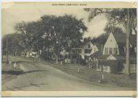 Main Street, Steep Falls, Maine postcard, c. 1905