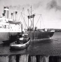 Tugboat Security Guiding Pioneer Dale, Searsport, c. 1965