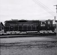 Bangor and Aroostook Railroad engine 80, c. 1970