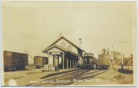 Railroad station, Steep Falls, ca. 1930