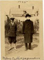 Dr. Melvin Preble and grandson, South Portland, 1925