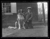 Boy with dog, Portland, 1927