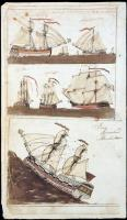 Drawings from storekeeper account book, Parsonsfield, 1803