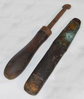 Burnishing tools, ca. 1840