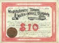 Wood Automatic Turbine stock certificate, Baldwin, 1894