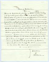 Draft for town of Baldwin's Civil War bounty certificates, 1863