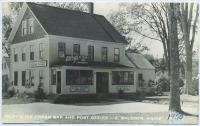 Riley's Ice Cream Bar and Post Office, East Baldwin, ca. 1950