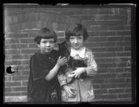Girls with kittens, Portland, 1927