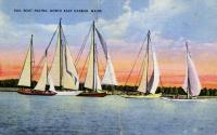 Sailboat racing, Northeast Harbor, ca. 1939