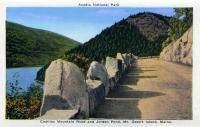 Cadillac Mountain Road and Jordan Pond, ca. 1930