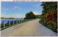 Bay Drive entering Bar Harbor, ca. 1930
